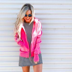 Lululemon | Scuba Pink Cotton Fleece Jacket Small